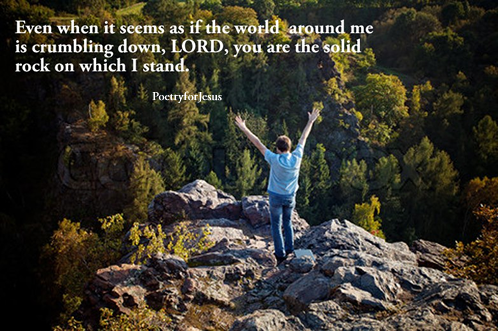 God is the solid rock